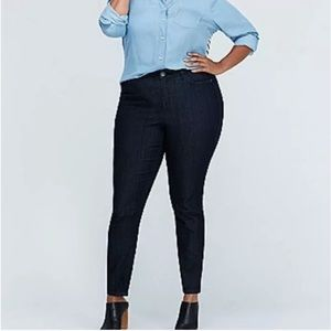 NEW Lane Bryant High Rise Jeggings Dark Wash 26